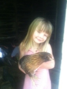 Emma and one of her Easter Eggers.